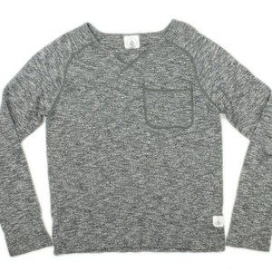 VOLCOM Womens Gray Fitted Crew Neck Sweater